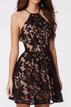 Spaghetti Strap Geometric Print Organza Dress