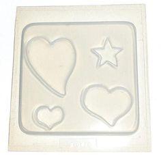 3 Hearts, 1 Star Mold 618