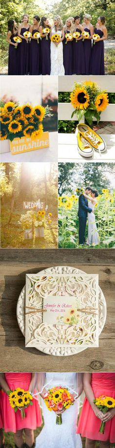 country rustic sunflower wedding ideas for 2016 spring wedding colors september / fall color wedding ideas / color schemes wedding summer / wedding in september / wedding fall colors Summer Wedding, Dream Wedding, Wedding Day, Trendy Wedding, Wedding Rustic, Wedding Blue, Wedding Flowers, Spring Weddings, Wedding Stuff