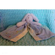 Bunnies By The Bay Security Blanket Blue Bunny Rabbit Hippity Hop Off We Go Boy