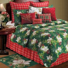 Cozy up with this soft Bella Magnolia quilt. This patchwork quilt is available in a variety of sizes and features an array of colors in a tasteful design.