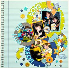 Layout: Boys Will Be Boys *Doodlebug Design*