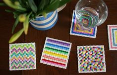 Tales from a happy house.: Hama Bead Coasters And Other Crafty Fun