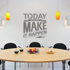Have you employees (you too!) pin dreams, goals, hopes and wishes for the company's future. This is a great way to gain insight into the minds of your employees and it will serve as daily inspiration to everyone in the office --> 5 Surprising Effects of Office Decor