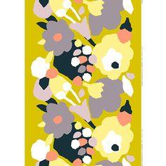 Marimekko Paivansankari Chartreuse/Yellow/Black Fabric