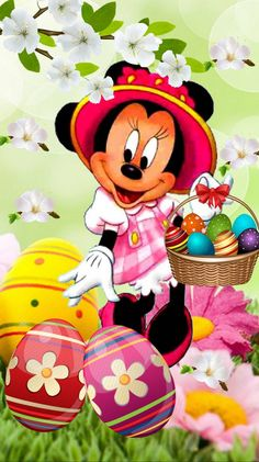 Minnie Mouse Pics, Minnie Mouse Cartoons, Mickey Mouse Images, Mickey Mouse And Friends, Easter Drawings, Art Drawings For Kids, Mickey Mouse Wallpaper, Disney Wallpaper, Disney Kunst