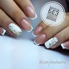 21 Ideas of Luxury Nails To Really Dazzle Our ideas of luxury nails will give you a ton of inspiration for your next nail appointment. For the last couple of years nail rhinestones designs and nail studs designs remain popular. Elegant Nail Designs, Elegant Nails, Nail Art Designs, French Nails, Cute Nails, Pretty Nails, Nail Art Arabesque, Bridal Nail Art, Studded Nails