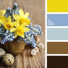 Такое сочетание – желтый, голубой, коричневый – часто встречается в природе, следовательно, и интерьер оно не испортит. Наоборот, эта палитра получает все более широкие возможности: в предлагаемых тонах оформляют не только холлы и спальни, но и кухни, детские комнаты, преимущественно для мальчиков. Коричневый – необходимая каждому ребенку надежность, голубой – расслабление, желтый цвет – лучик солнца, помогающий легко пережить неизбежные неудачи; любой малыш будет доволен такой детской.