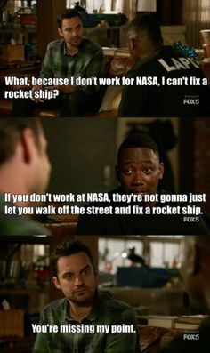"""NewGirl """"Par - Nick and Winston Nick Miller, Funny Scenes, Best Shows Ever, New Girl, Favorite Tv Shows, Movie Tv, Funny Quotes, Films, Let It Be"""