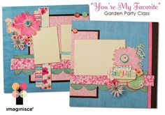 Scrapbook Double Page Layouts Idea | Imaginisce Blog: Join us at CK Scrap & Play in Boise, August 12 and ...