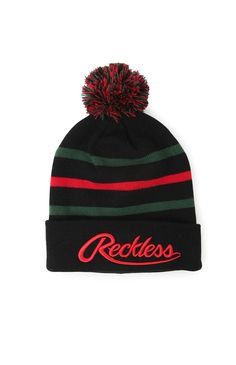 huge discount 1dc72 ac58d Young   Reckless Big R Script Beanie