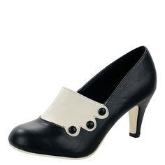 cdd90d9fc9033a shoes · T.U.K. ANTIPOP HEEL VICTORIAN SPIRIT IVORY SPAT Ladies Size  Uk5/EU38 A8396L Accoutrement, Soulier