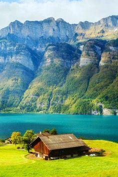 Beautiful Lake Walensee ~ St.Gallen, Switzerland Everyone's collection