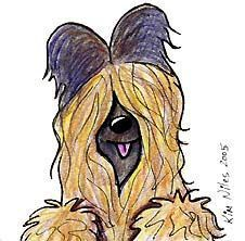 Art: Briard Dog by Artist KiniArt
