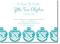 ZTA Crest - Custom Zeta Tau Alpha Sorority Bid Day Invitations! http://www.trulysisters.com/zeta-tau-alpha-sorority/bid-day-cards/invitation-style-c/
