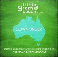 Little Green Pouch is Going Down Under | Little Green Pouch
