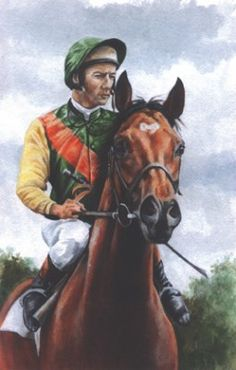 Lester Piggot and Triple Crown winner Nijinsky. Image size 35 x Signed by the Artist Giclee edition of 395 This print is also available framed from Clydesdale Horses, Thoroughbred Horse, Breyer Horses, Barrel Racing Horses, Horse Racing, All The Pretty Horses, Beautiful Horses, Race Horse Breeds, Drawing Stars