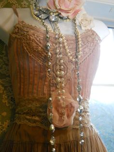 Vintage Dress and Neck Adornments