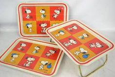 Vintage Peanuts Snoopy TV Trays
