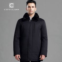 334.00$  Buy here - http://ali7aj.worldwells.pw/go.php?t=32427232724 - CITY CLASS New thick warm winter jacket men overcoat 3M cotton fashion long thinsulate removable mink collar free shipping 15918 334.00$