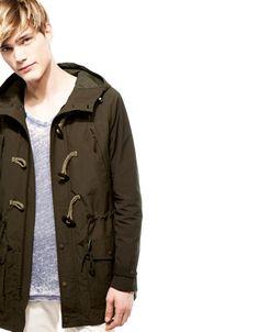 Bershka Colombia - Abrigo bicolor con alamares $60.ooo
