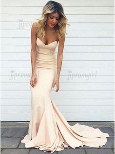 Stylish Sweetheart Sleeveless Sweep Train Pearl Pink Mermaid Prom Dress