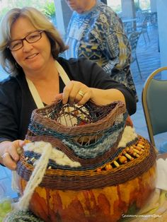 Sew what's cooking with Joan!: Wonkey Weaving Gourd Basket!