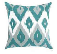 aqua white and grey ikat pillows - Bing Images
