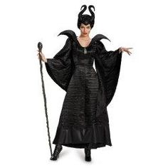New Disney Maleficent Movie Costumes for Halloween 2015 plus size Disney Maleficent Live Action Move – Adult Deluxe Glam Christening Gown