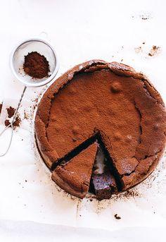 Gluten Free Chocolate Almond Torte #cake