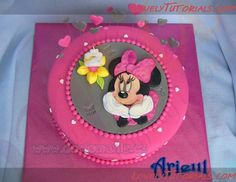 MK applique Minnie Mouse on the cake-Minni Mouse applique tutorial - Master classes for decorating cakes Cake Decorating Tutorials (How To's) Tortas Paso a Paso