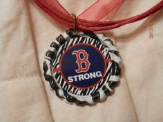 """$8.00 Boston Red Sox """"Boston Strong"""" Necklace  https://www.etsy.com/listing/156967471/boston-red-sox-boston-strong-necklace"""