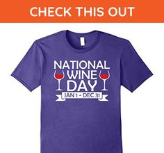 Mens National Wine Day T Shirt, Funny Wine Lovers T Shirt XL Purple - Food and drink shirts (*Amazon Partner-Link)