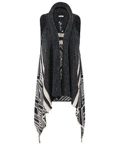 DRESSOLE Women Sweater Vest Wool Blend Asymmetric Hem Open Front Cardigan LXL >>> Read more  at the image link.Note:It is affiliate link to Amazon.