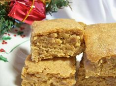 Maple Brown Sugar Bars - sounds like a good fall dessert.