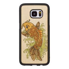 #fishing - #Colorful Goldfish Koi Wood Samsung Galaxy S7 Edge Case