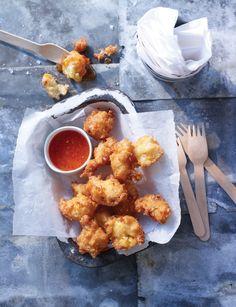 Crab and sweetcorn fritters - Sainsbury's Magazine