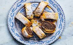 Poppy Seed and Pecan Strudel / Photo by Chelsea Kyle, Prop Styling by Beatrice Chastka, Food Styling by Olivia Mack Anderson Strudel Dough Recipe, Easy Apple Strudel Recipe, Strudel Recipes, Easter Dinner Recipes, Easter Brunch, Brunch Recipes, Dessert Recipes, Best Christmas Desserts, Thanksgiving Desserts