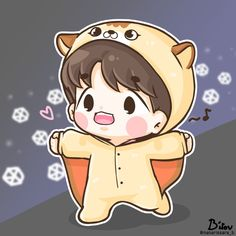 Chanbaek Fanart, Baekhyun Fanart, Kpop Fanart, Exo Cartoon, Cute Cartoon Girl, Exo Anime, Anime Chibi, Exo Stickers, Exo Fan Art