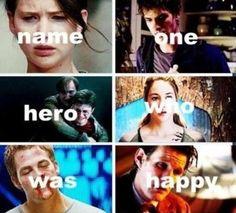 Hunger Games, Spider-Man, Harry Potter, Divergent, Star Trek, Doctor Who.
