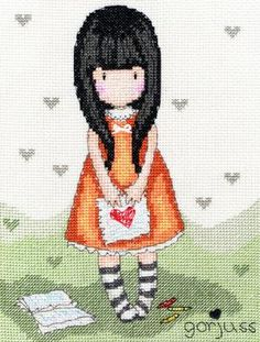 I Gave You My Heart      Our Price - $32.15    Kit Includes: chart and instructions, needle, quality fabric and pre-sorted stranded cotton threads on a loaded thread organiser.  Stitched On: 14 count Zweigart Aida, using full cross stitch, special threads, a heart button, back stitch and a few French knots.  Pattern Size: 16cm x 21cm.