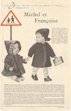 PAR AMOUR DES POUPEES :: M&T 1958-09 Manteau et bonnet pour Françoise (tricot)