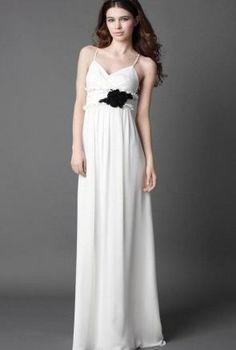 Discount Chiffon Spaghetti Straps Sweetheart Sheath Long Bridesmaid Dress Free Measurement