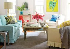 slipcovers and ruffle on bottom of couch and chairs