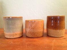 Tumblers/Handle-less Mugs!  www.ARTbyJSP.com Tumblers, Planter Pots, Handle, Pottery, Mugs, Ceramica, Cups, Travel Mugs, Pots