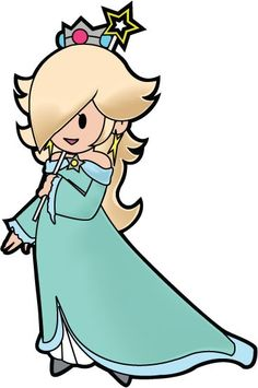 Rosalina from Super Mario Galaxy if she was in a paper mario game I would soo play the hell outta this