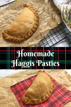 Homemade Haggis Pasties - these homemade pasties are filled with haggis neeps and tatties and are a delicious treat perfect for Burns Night or St Andrews Day Welsh Recipes, Scottish Recipes, Turkish Recipes, Raw Food Recipes, Romanian Recipes, British Recipes, Yummy Recipes, Haggis Recipe, Ireland