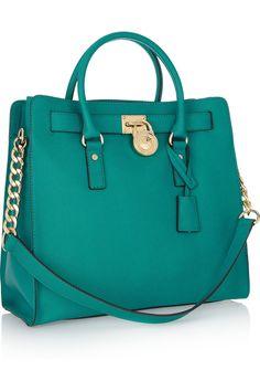 What a fabulous colour! l MICHAEL Michael Kors|Hamilton Large textured-leather tote|