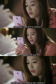 hahaha, I know that feeling Cheon Song Yi. My Love from Another Star
