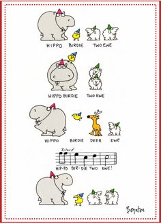 Hippo Birdie! Best birthday card EVER by artist Sandra Boynton, circa 1975.